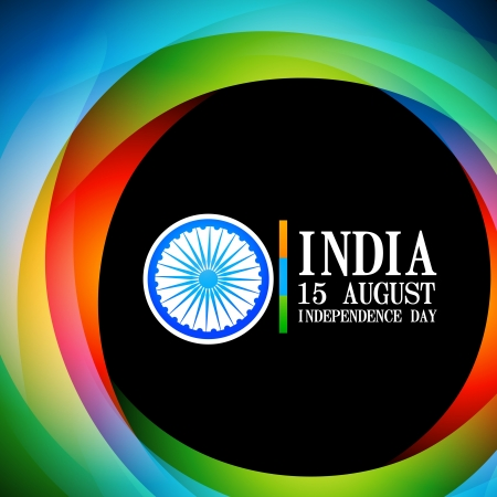 15 august: wave style indian flag background design