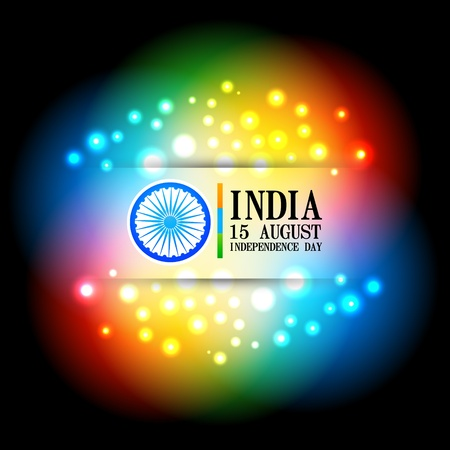 colorful shiny indian flag design Vector