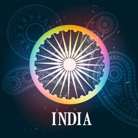 15 august: colorful indian style background