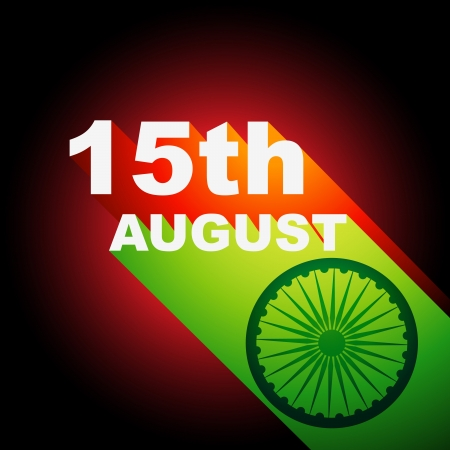 hindustan: 15 august indian independence day background Illustration