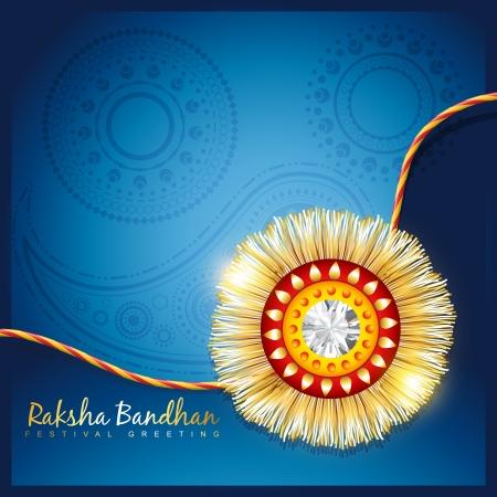 stijlvolle vector hindoe rakshabandhan festival achtergrond Stock Illustratie