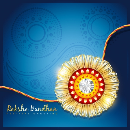 stylish vector hindu rakshabandhan festival background 向量圖像