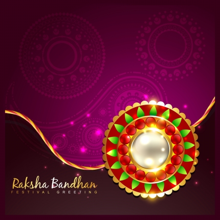 indian festival of rakhsha bandhan vector background