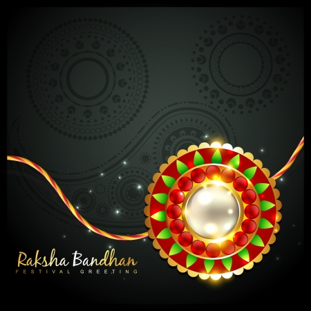 beautiful rakhi background with space for your text Stock Vector - 21282037