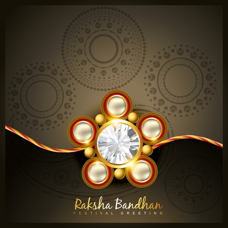 beautiful indian hindu festival of rakshabandhan Stock Vector - 21282038