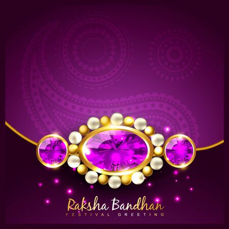 tied girl: vector rakhi background with space for your text