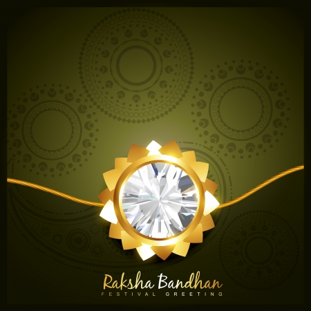 beautiful golden rakhi for hindu rakshabandhan festival Stock Vector - 21282049