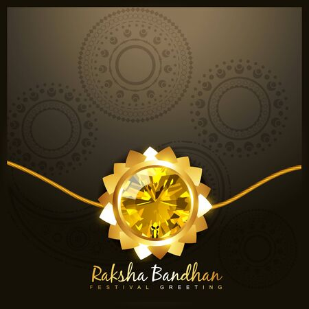 beautiful golden rakhi for hindu rakshabandhan festival Stock Vector - 21282050