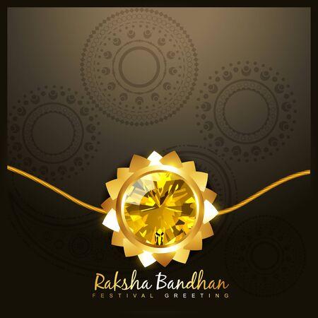 beautiful golden rakhi for hindu rakshabandhan festival Stock Vector - 21282050