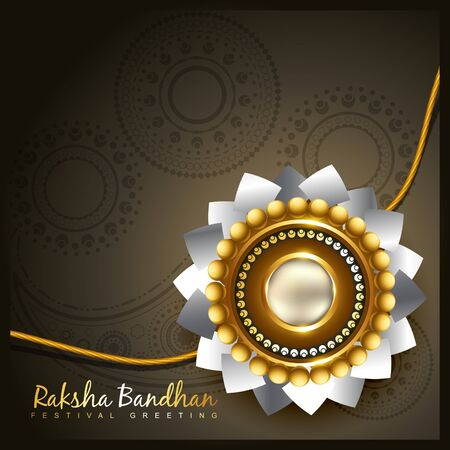 raksha: raksha bandhan festival vector background Illustration