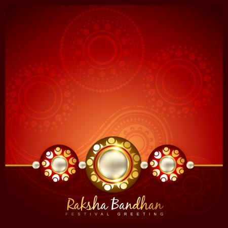 raksha: vector hindu festival of raksha bandhan
