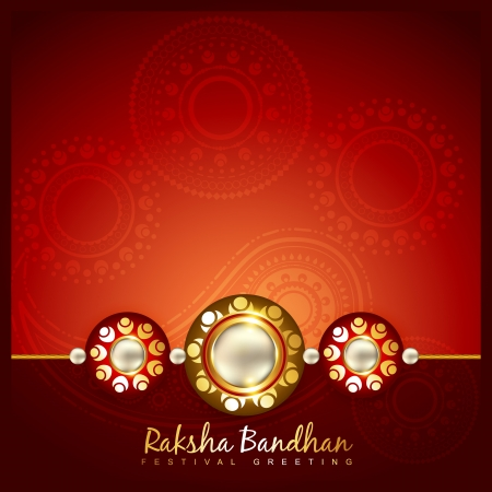tied girl: vector hindu festival of raksha bandhan