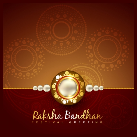 vector rakshabandhan festival background design Vector