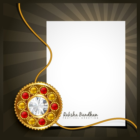 raksha bandhan design with space for your text Vector