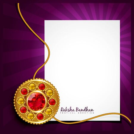 vector creative raksha bandhan background Vector