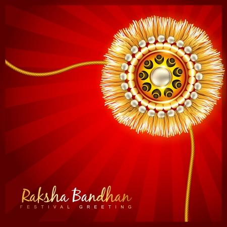 rakhi festival vector background design Vector