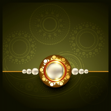 pooja: stylish rakhi background with space for your text