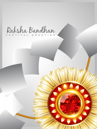 raksha: vector creative raksha bandhan background Illustration