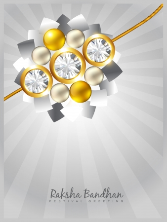 tied girl: stylish rakhi background with space for your text
