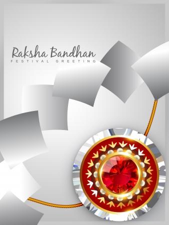 vector shiny rakhi background design Vector
