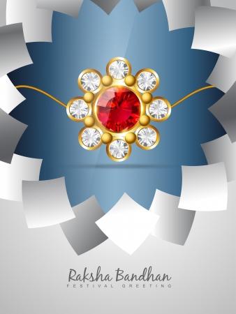 raksha: raksha bandhan festival vector background Illustration