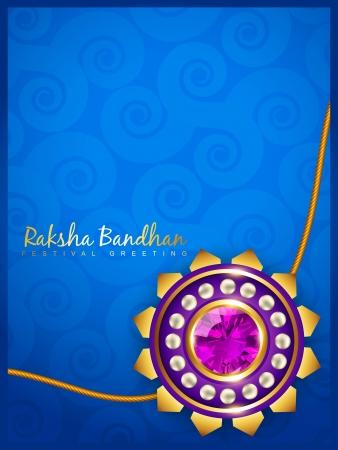 raksha bandhan: stylish vector hindu raksha bandhan festival background