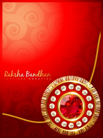 beautiful rakhi background with space for your text Vector