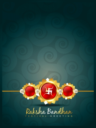 vector creative raksha bandhan background Vector