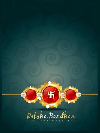 raksha: vector creative raksha bandhan background Illustration