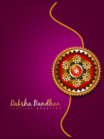 beautiful hindu festival rakhi background Vector