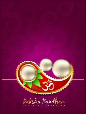 tied girl: vector rakshabandhan festival background design Illustration