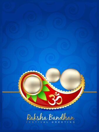 pooja: stylish vector rakhi background with space for your text