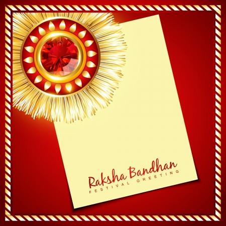 raksha bandhan: stylish vector rakhi background with space for your text