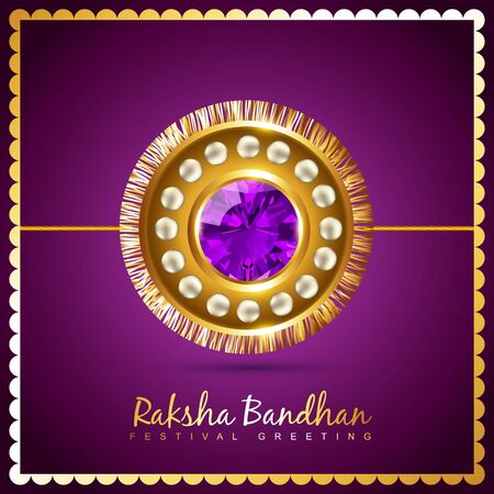 stylish vector hindu raksha bandhan festival background Vector