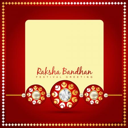 dharma: beautiful golden rakhi for hindu rakshabandhan festival Illustration