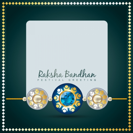 vector creative raksha bandhan background Illustration