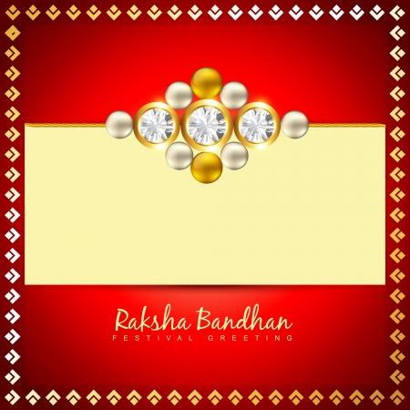 raksha: vettore raksha creativo bandhan sfondo Vettoriali