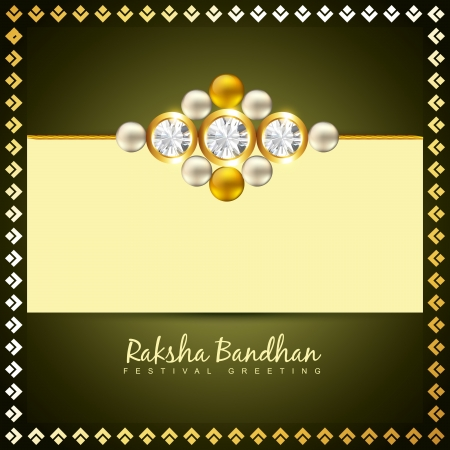 rakshabandhan: beautiful golden rakhi for hindu rakshabandhan festival Illustration