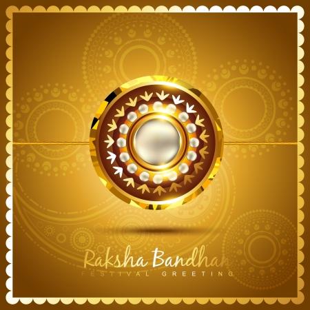 vector shiny golden rakhi background Vector
