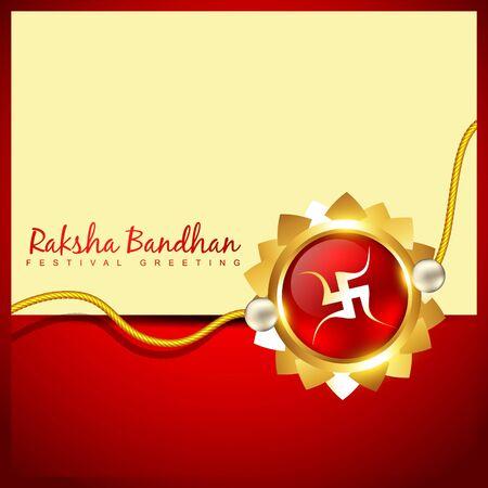 vector rakshabandhan greeting background design Vector