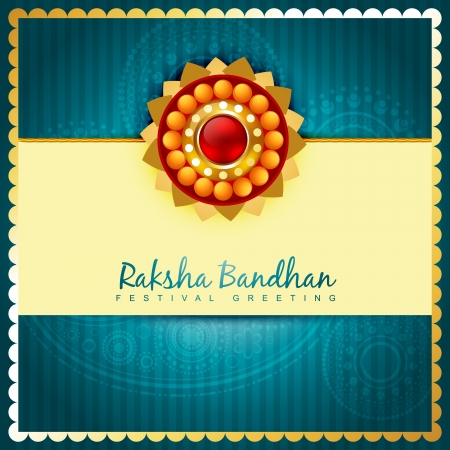 raksha: raksha bandhan design with space for your text