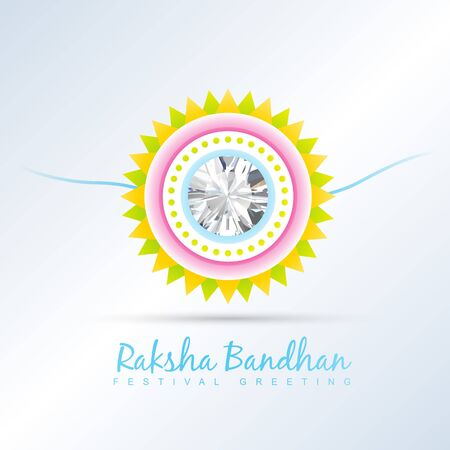 raksha bandhan festival vector background Illustration