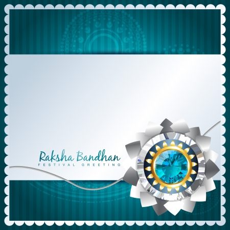 beautiful hindu festival rakhi background Vector