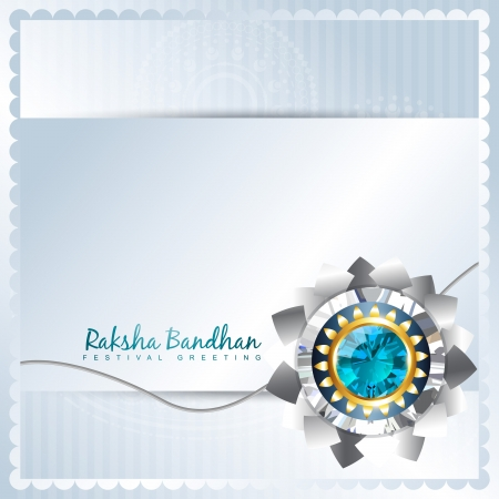 stylish rakhi background with space for your text Vector