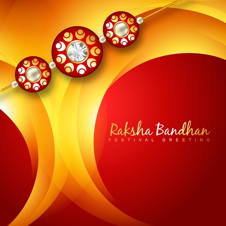 beautiful rakhi background design art Vector