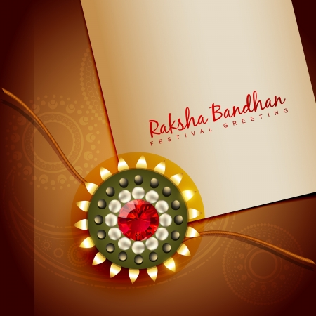 beautiful rakhi for hindu rakshabandhan festival Vector