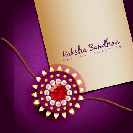 rakhi: stylish golden rakhi background with space for your text Illustration