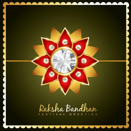 stylish vector hindu raksha bandhan festival background Vector