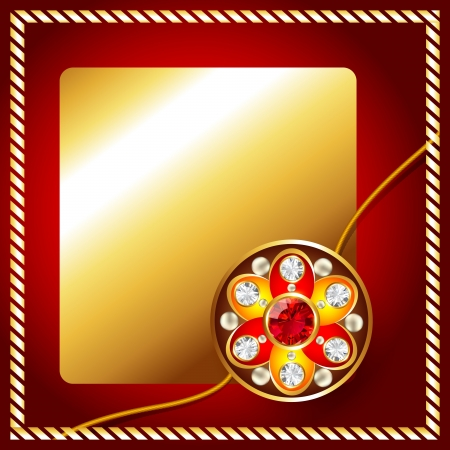 stylish golden rakhi background with space for your text Illustration