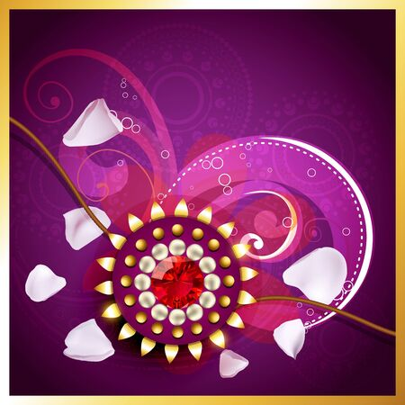 vector rakhi background with space for your text Vector